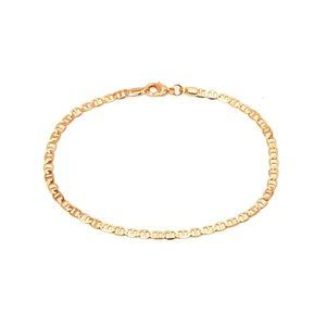 Gold Plated Flat Marina Link Anklet